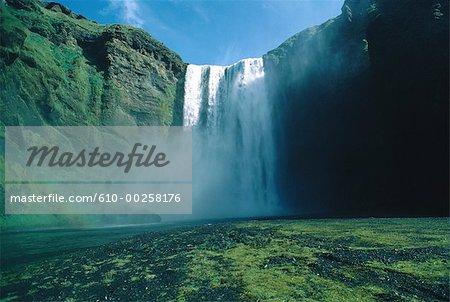 Iceland, Skogar, Skogafoss waterfall