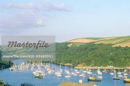 England, Cornwall, Polrvan on the Fowey river