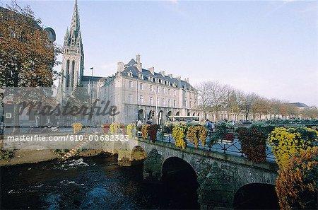 France, Brittany, Quimper, bridge on Odet river