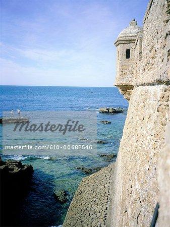 Spain, Andalusia, Cadix, Fort San Sebastian