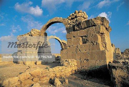 Cyprus, Paphos, castle with 40 columns.