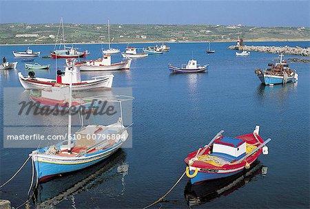 Greece, Peloponnese, port