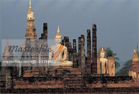 Thailand, Sukhothai , Wat Mahathat temple