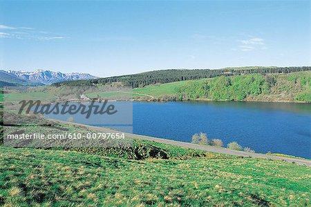 France, Auvergne, lake of Guerm