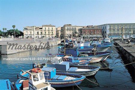 Italy, Sicily, Syracuse, Ortygia, port