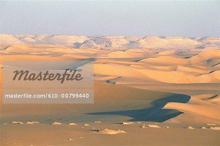 Egypt, Libyan desert at sunrise