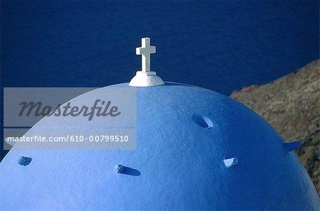 Greece, Cyclades, Santorini, dome