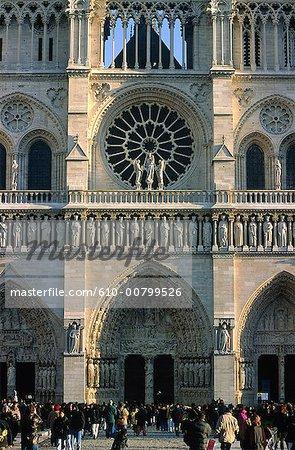 France, Paris, Notre Dame de Paris, the gate