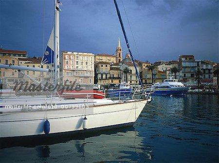 France, Corsica, Calvi, the port