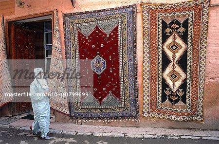Morocco, Rabat, veiled woman