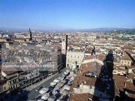 Italy, Verona, Piazza delle Erbe, market