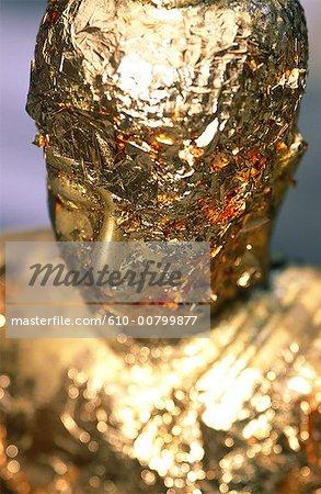 Thailand, Bangkok, Wat Phra Keo temple, golden buddhas