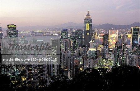 Chine, Hong Kong au crépuscule
