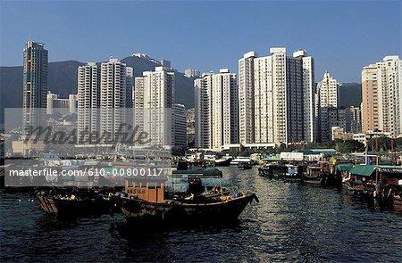 Chine, Hong Kong, baie Aberdeen