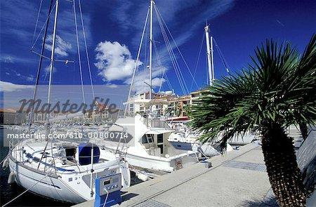 France, south, Argeles marina