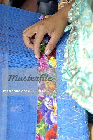 Guatemala, Antigua, traditional weaving