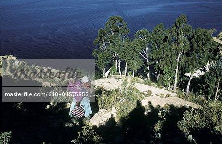 Bolivia, lake Titicaca, the Sun island