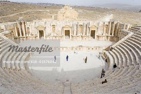 Jordan, Jerash, roman amphitheatre