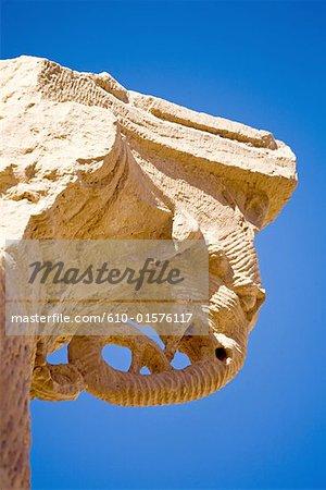 Jordan, Petra, carved capital