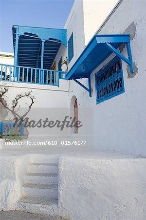 Tunisia, Sidi Bou Said, traditional architecture