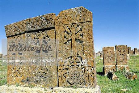 Armenia, Noradouz, khachkars (carved stone)