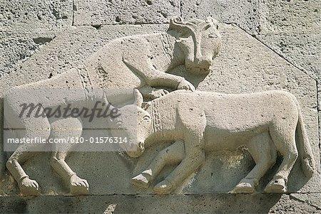 Armenia, Geghard, Holy Spear Monastery, carved detail