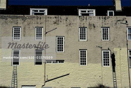 Channel Islands, Alderney, Braye Bay, façade