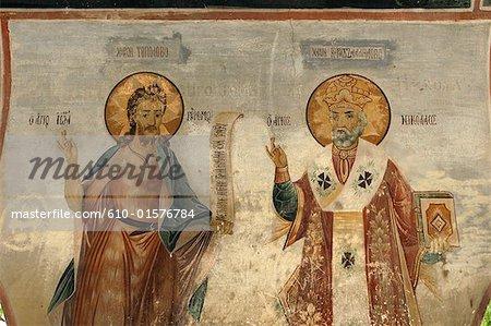 Bulgaria, Batchkovo, monastery, mural