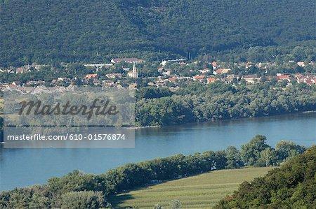 Hungary, near Visegrad, Danube loop