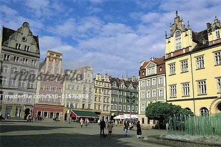 Poland, Wroclaw, market place