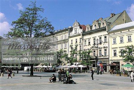 Poland, Kracow, market place