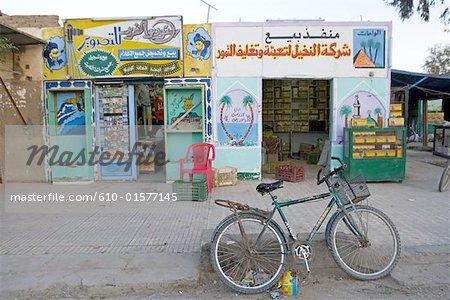 Egypt, Libyan desert, Bahariya Oasis, shops