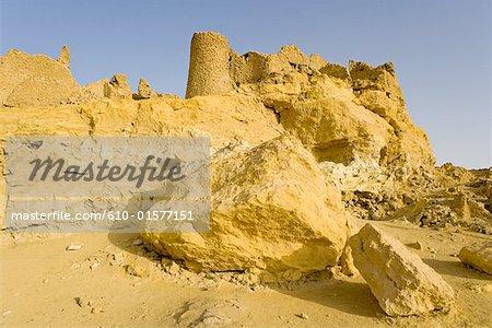 Egypt, Libyan desert, Siwa Oasis, ruins of an old village