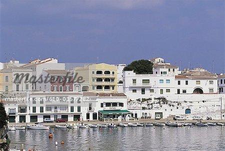 Spain, Balearic Islands, Minorca, Es Castell, harbour