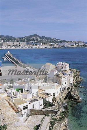 Spain, Balearic Islands, Ibiza, Sa Penya, old fishermen district