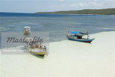Indonesia, Sulawesi, Bira Beach, boats