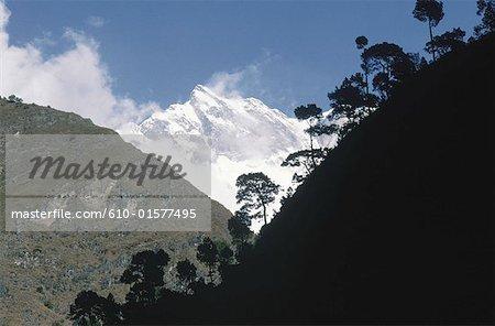 Nepal, near Dana, mountains