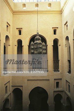 Morocco, Chefchaouen, medina, traditional patio