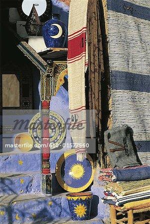 Morocco, Chefchaouen, craft shop