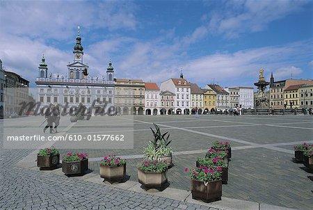 Czech Republic, Ceské Budejovice, Premysl Otakar Square