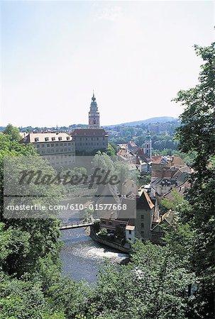Czech Republic, Ceský Krumlov, general view