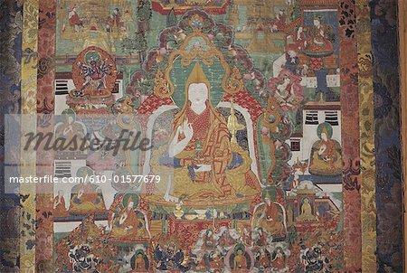 India, Jammu and Kashmir, Ladakh, Likir Monastery, thangka