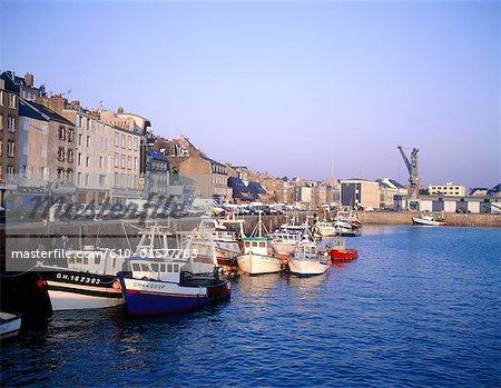 France, Normandy, Granville, harbour