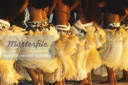 French Polynesia, Society Islands, Leeward Islands, Bora Bora, dancers during Heiva Festival