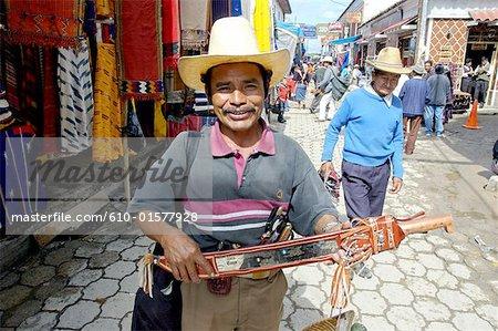 Guatemala, Chichicastenango, market, Indian man portrait