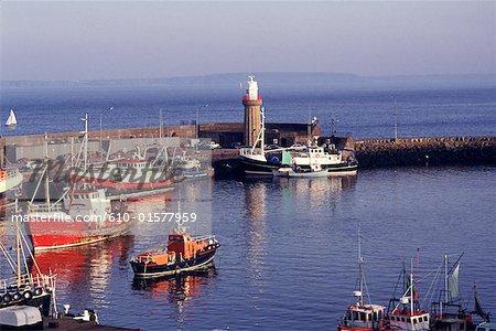 Ireland, Connemara, Clifden, harbour