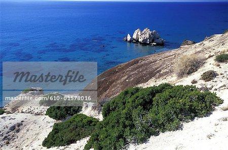 Cyprus, Petra Tou Romiou, coastal landscape
