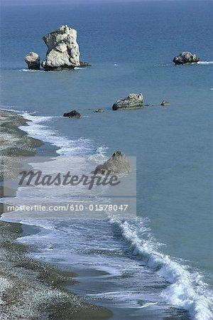 Cyprus, Petra Tou Romiou, rock of Aphrodite