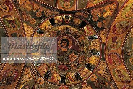Cyprus, Lagoudera, church of Panayia Tou Araka, Christ Pantocrator