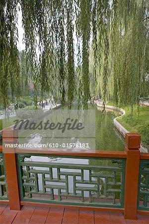 China, Beijing, park near the Tiananmen Square, river
